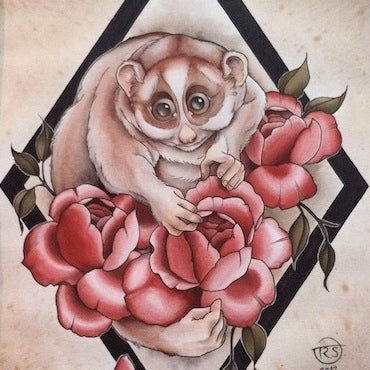 Image of Slow, Slow Loris - original painting