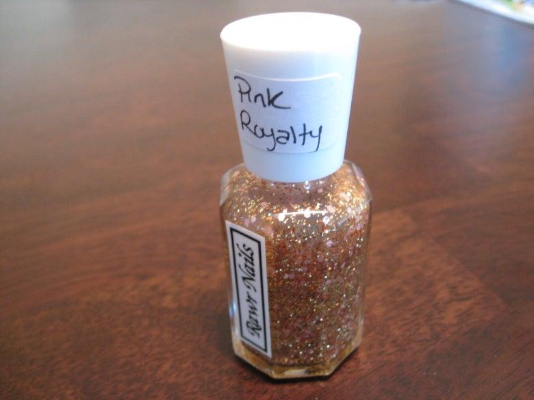 Image of Rawr Nails: Pink Royalty - Pink Gold - Glitter Nail Polish Custom