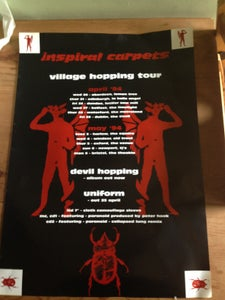 Image of Inspiral Carpets Village Hopping 1994 Tour Poster