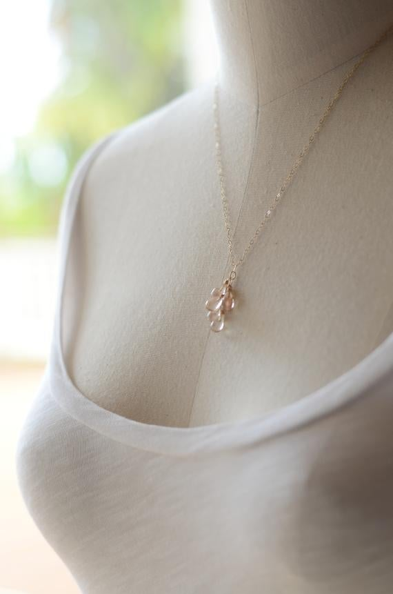 Image of Oregon Sunstone necklace - Kala Droplets
