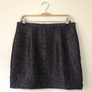 Image of 'Lula' mini skirt - Black and Silver