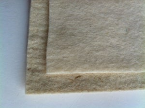 Image of Wool felt backing samples