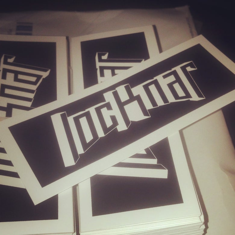 Image of 5 Locknar Stickers (B/W)