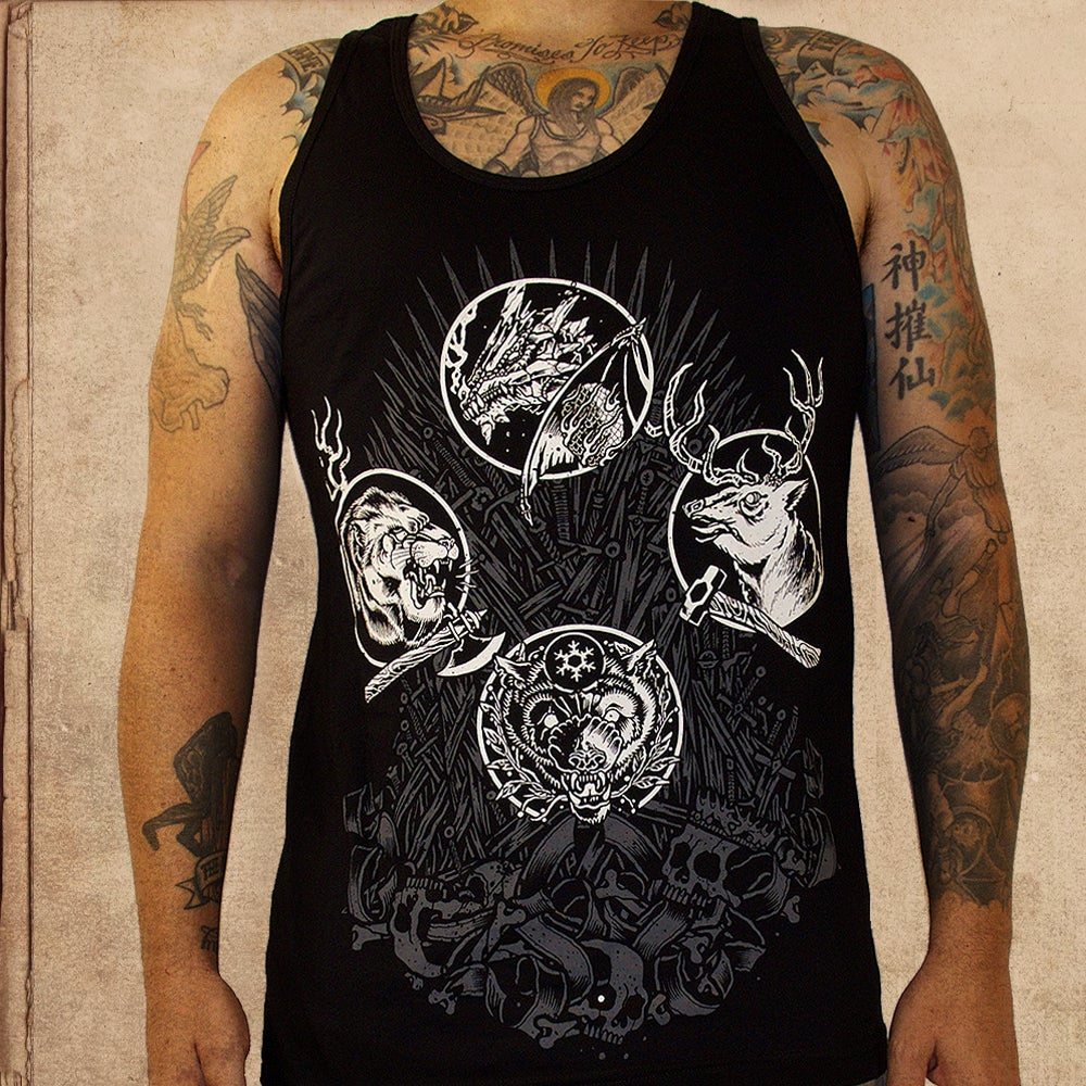 Image of Game of Thrones - iron throne - tank top/vest - one time print