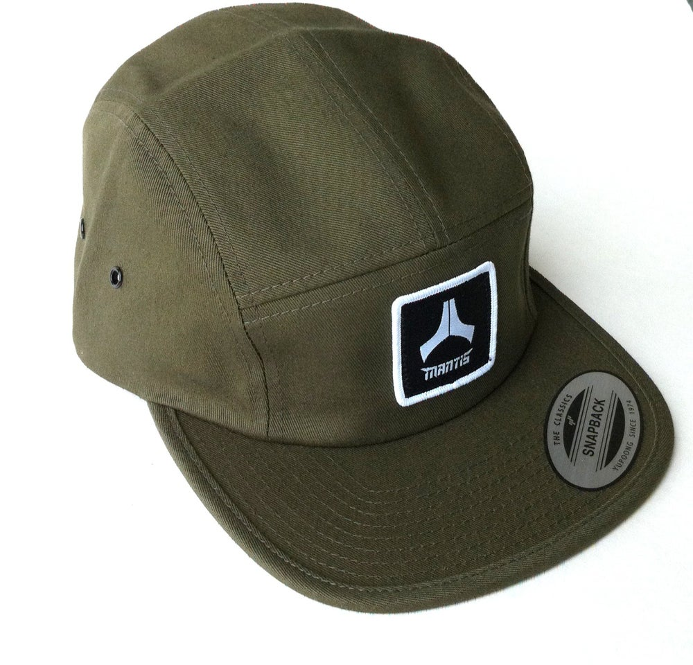 Image of Olive 5 panel snapback hat