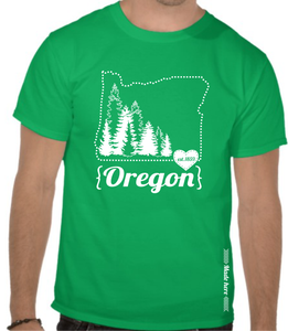 Image of Made Here- Oregon Outline Shirt