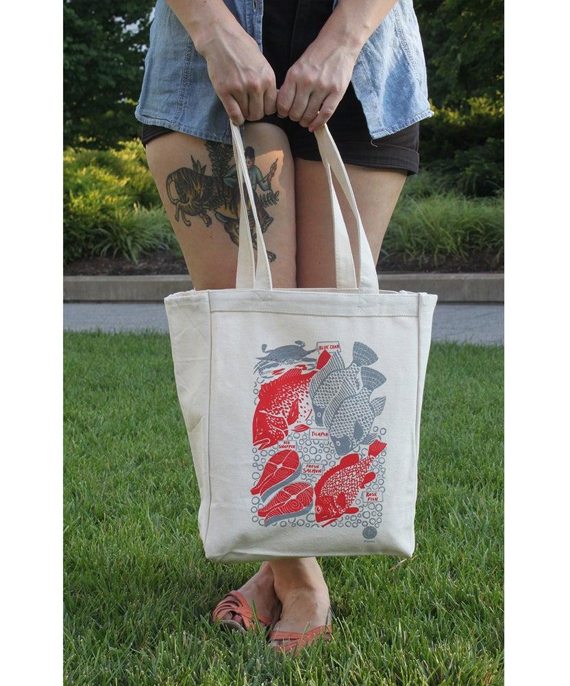 Image of 'TO MARKET' TOTE BAG -BY- Caleb Luke Lin
