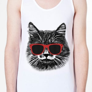 Image of The Hipster Cat! Unisex Tank