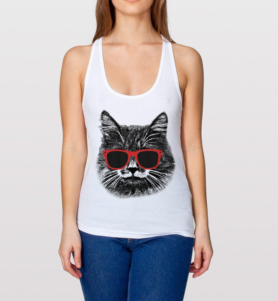 Image of The Hipster Cat! Women's Tank