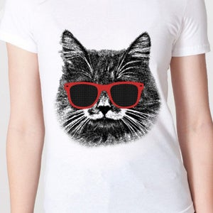 Image of The Hipster Cat! Women's Tee