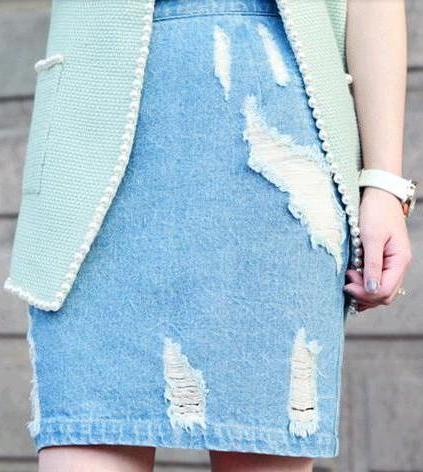 Image of 22. High Tide Denim Skirt