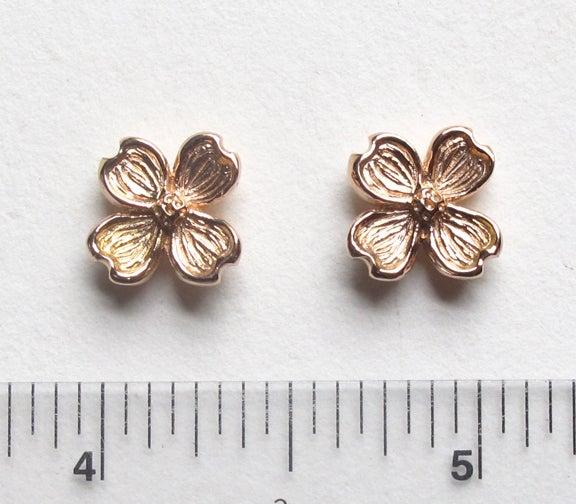 Image of Dogwood Flower 18k Earrings