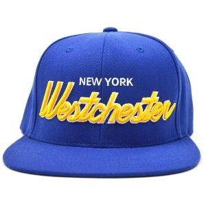 Image of Westchester NY ROYAL BLUE & YELLOW SNAPBACK