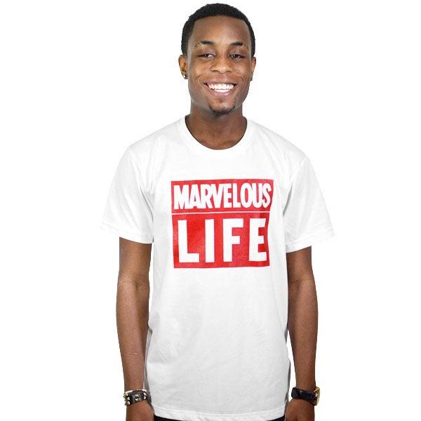 Image of Marvelous Life White Tee (UNISEX)