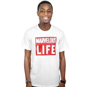 Image of Marvelous Life White Tee (UNISEX)