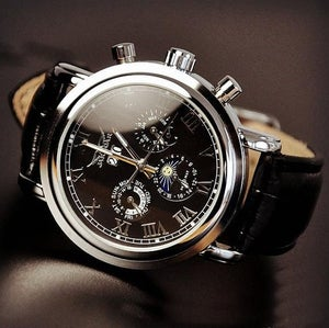 Image of Men's Watch / Antique Watch / Handmade Watch / Leather Watch / Automatic Mechanical Watch (WAT0102)