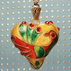 Image of Golden Peacock Necklace