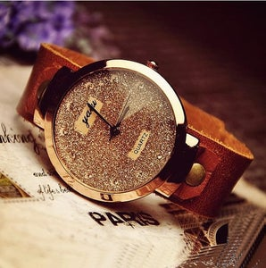 Image of Fashion Womens Leather Wrist Watch (WAT0006)