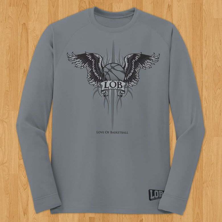 "Image of ""Winged Ball"" Performance Long Sleeve Tee"