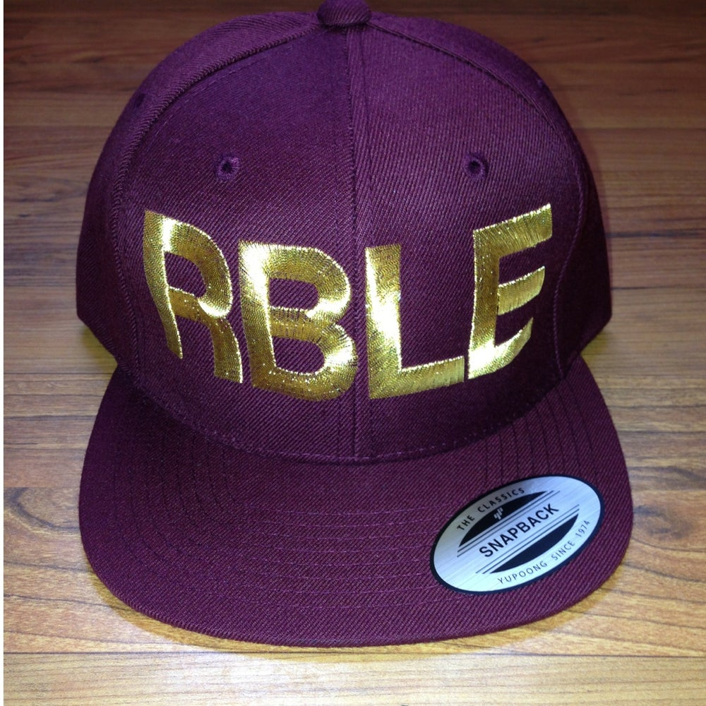 "Image of Classic RBLE Snapback ""Maroon x GXLD"""