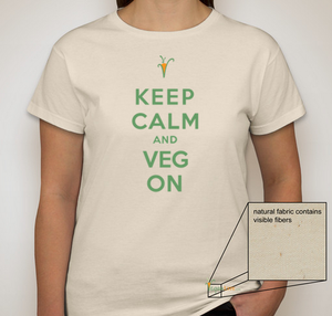 Image of Keep Calm and Veg On T-shirt - Women's