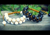 Image of Faceted Double Shamballa Bracelet