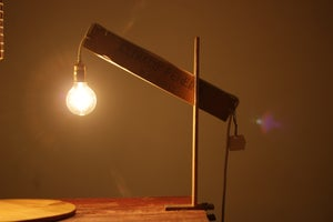 Image of Drawing Board Wooden Lamp