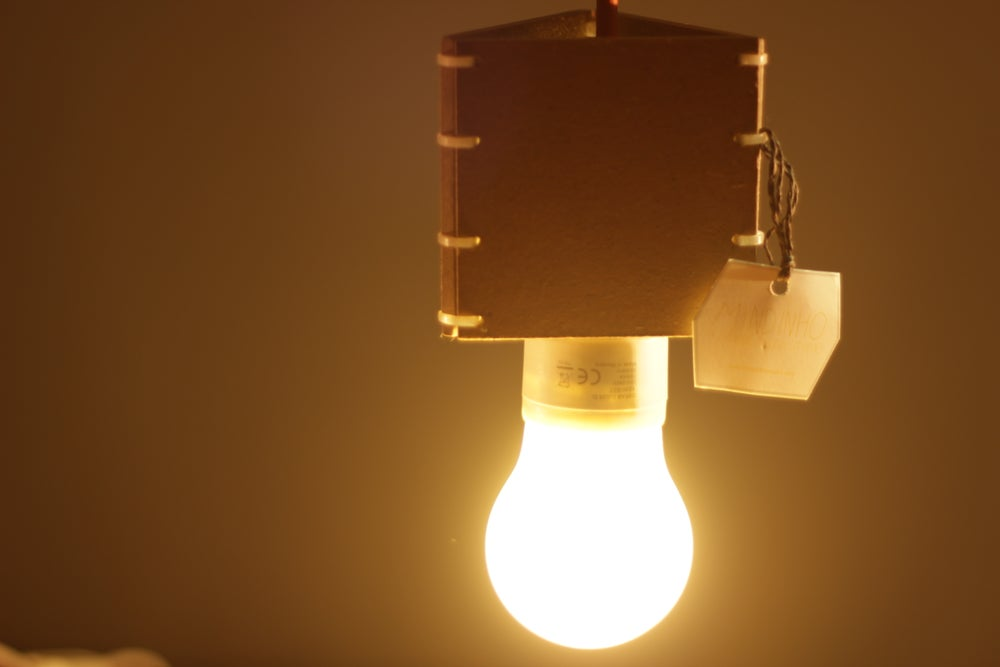 Image of Ceiling Wooden Lamp
