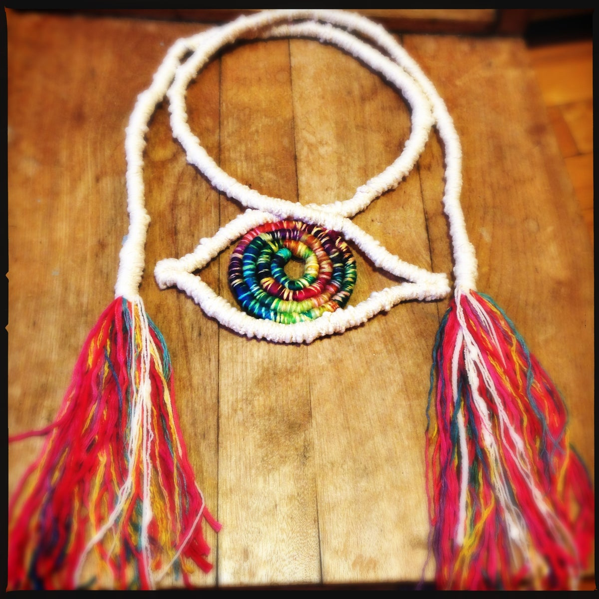 Image of White Rainbow Eye necklace