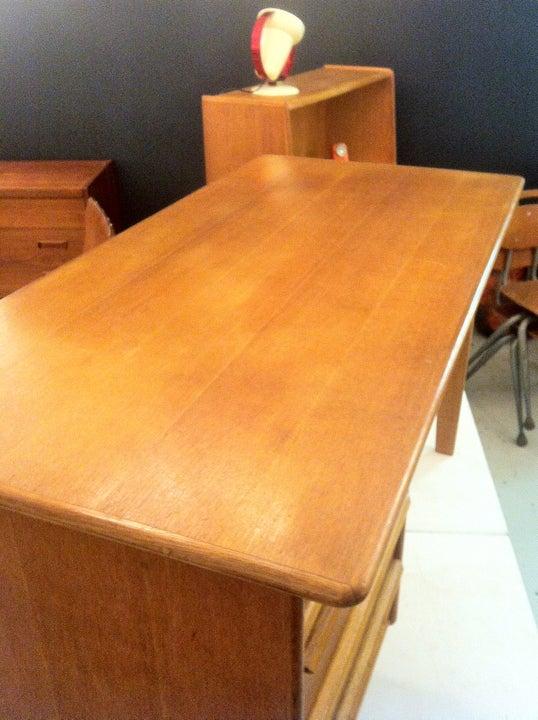 Image of Cees Braakman Oak Desk for Pastoe