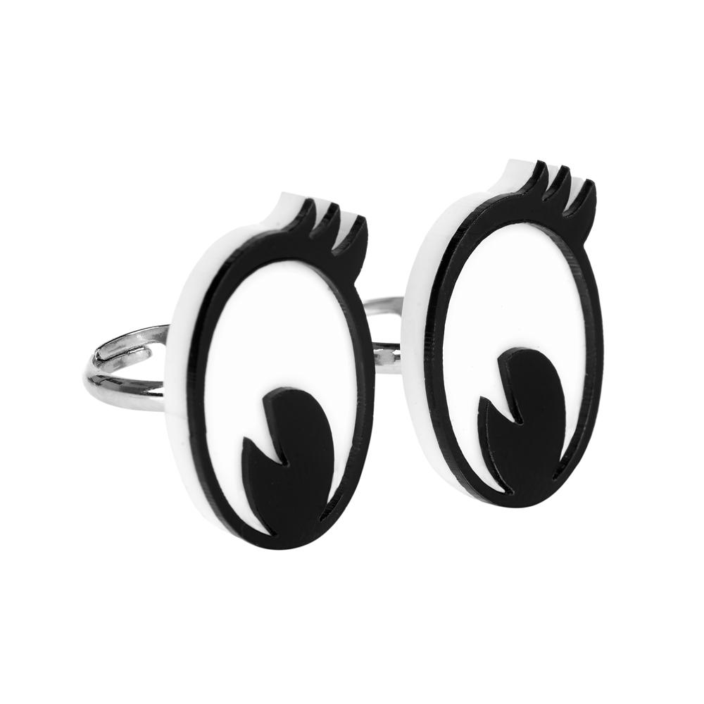 Bagues Cartoon eyes - Tatty Devine