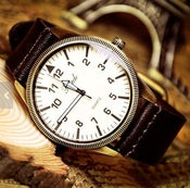 Image of Handmade Watch / Vintage Watch / Wrist Watch / Leather Watch / Men's Quartz Watch (WAT00109 - Brown)
