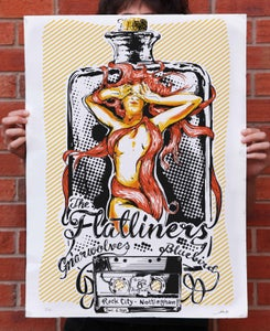 Image of The Flatliners Screen Printed Gig Poster