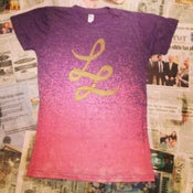 Image of LL LOGO BLEACHED BY THE BAND! (PURPLE, LADIES ONLY)