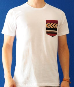 Image of Aztec Print on White Tee
