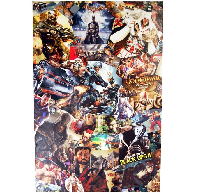 Image of CUSTOM Comic Collage Wall Art (Large)