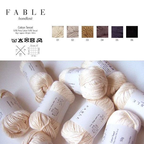 Image of Fable Handknit Cotton Tencel Yarn