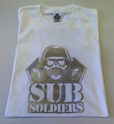 Image of Sub Soldiers White/Silver Mens T-shirt