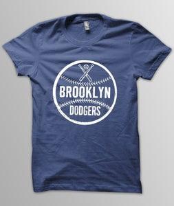 Image of Brooklyn Dodger Baseball Tee/Navy
