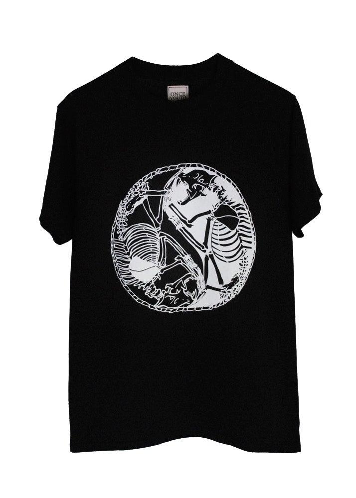Image of Skeleton Yin Yang T-Shirt