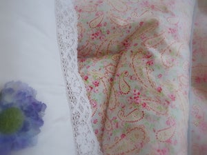 Image of Beautiful Alice Blue Paisley Eiderdown