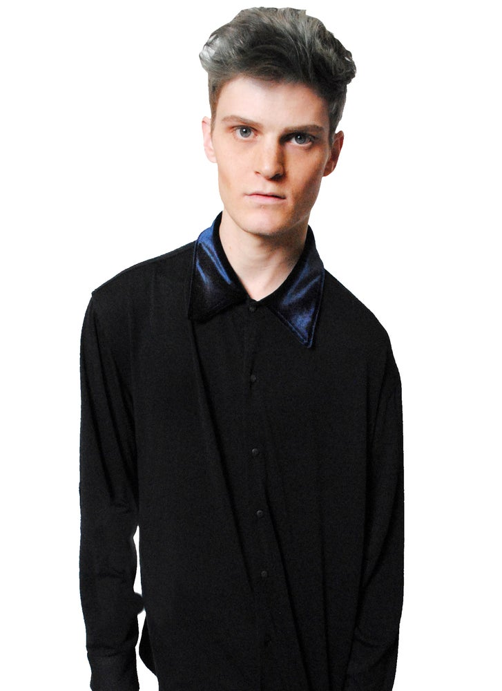 Image of Velvet Button Up