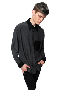 Image of Black and Charcoal Button Up