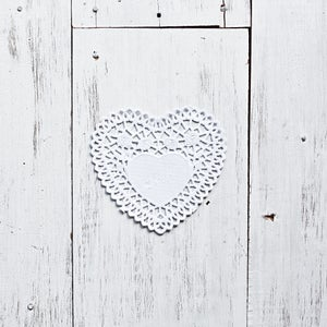 Image of Heart Lace Doily
