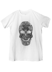 Image of Lace Skull T-Shirt