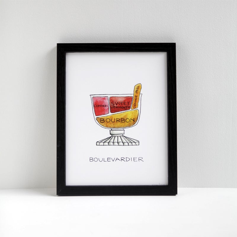 Image of Boulevardier Cocktail Print