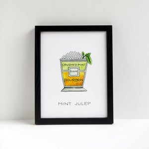 Mint Julep Cocktail Print by Alyson Thomas of Drywell Art. Available at shop.drywellart.com