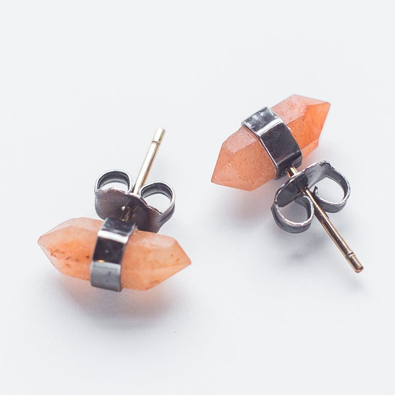 Image of Better Late Than Never Orange Herkimer Studs