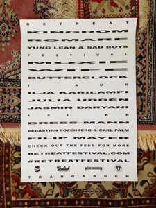 Image of RETREAT FESTIVAL 2013 POSTER