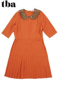 Image of T.B.A. Burnt Orange Amelie Dress